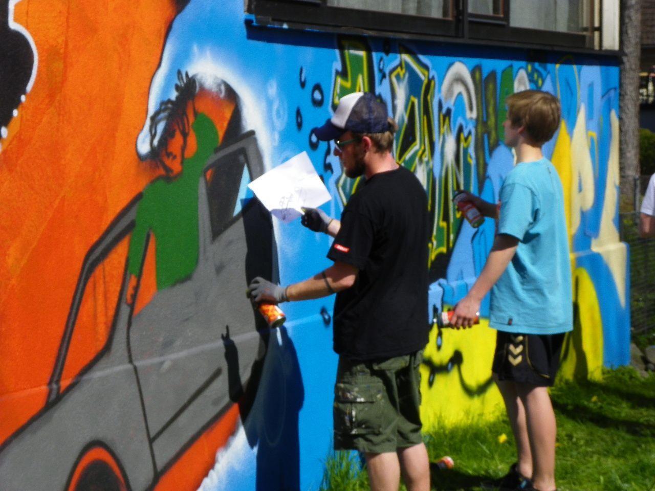 Graffitikunst für Jugendliche