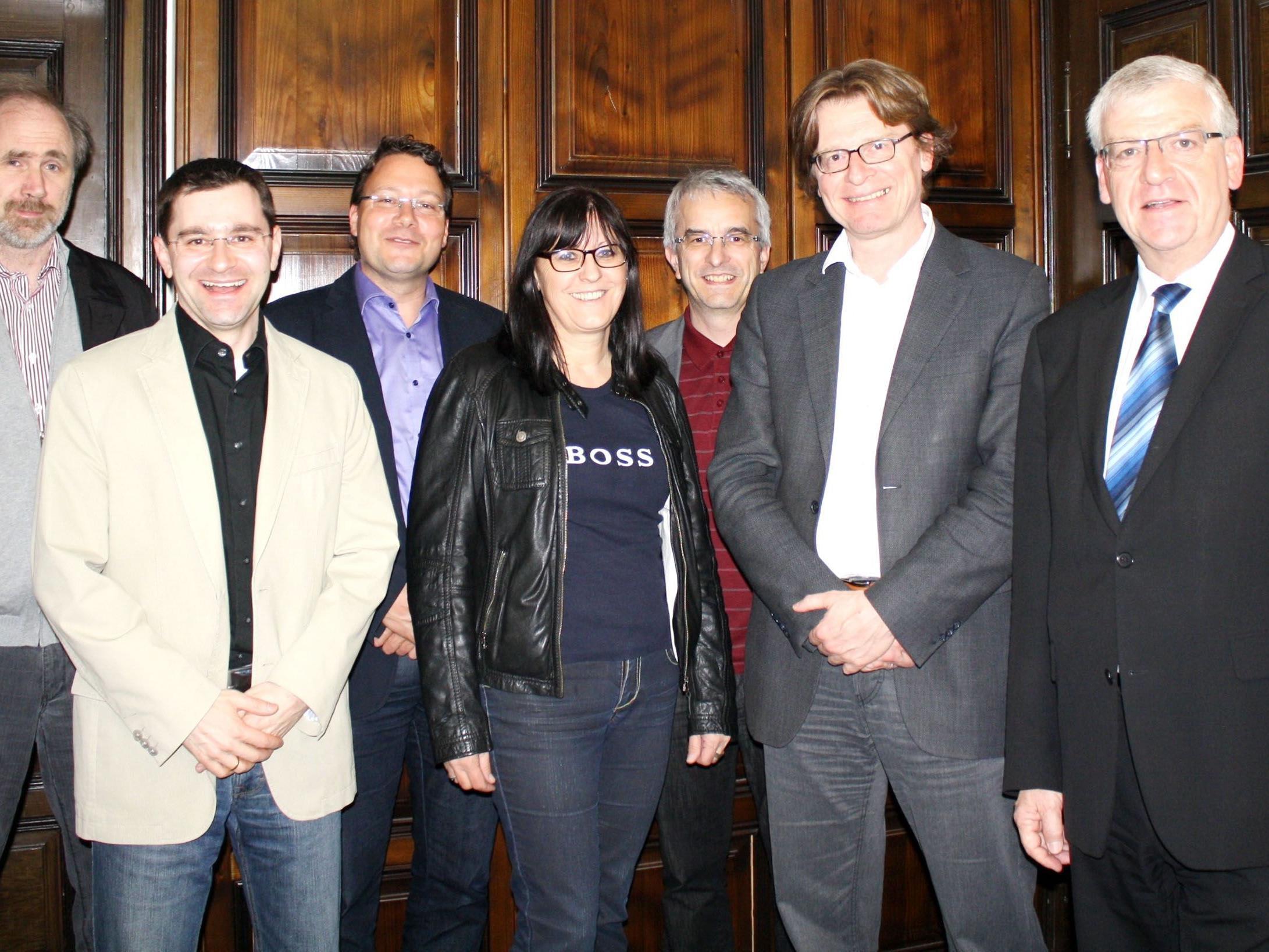 Der neue VÖV-Generalsekretär Gerhard Bisovsky (2. von rechts) bei seinem Antrittsbesuch.