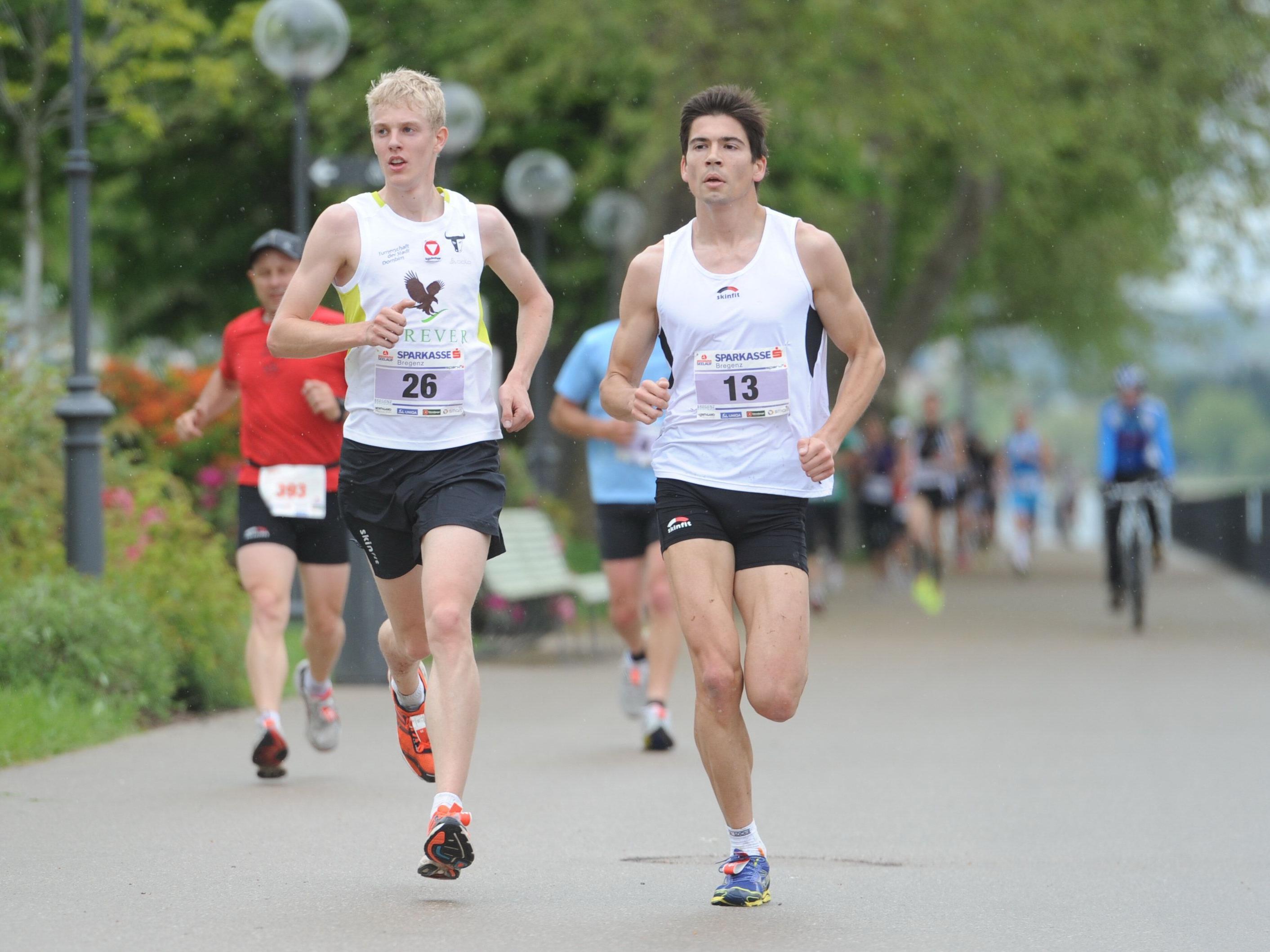 Jakob Mayer (l.) und Paul Hügli lieferten sich ein Kopf-an-Kopf-Rennen.