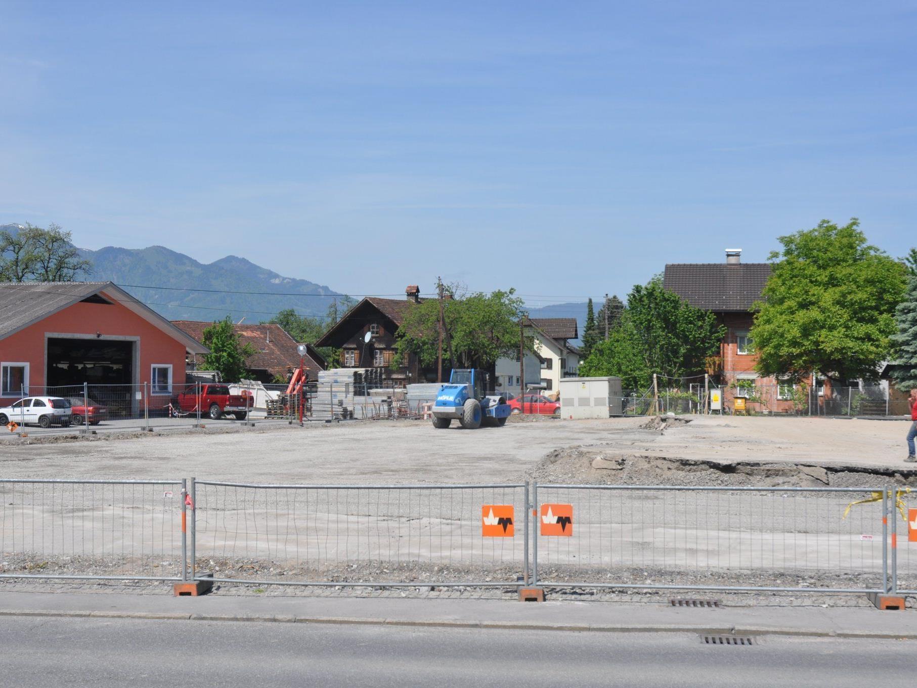 Die Abbrucharbeiten beim VKW Gebäude in Sulz sind beendet.