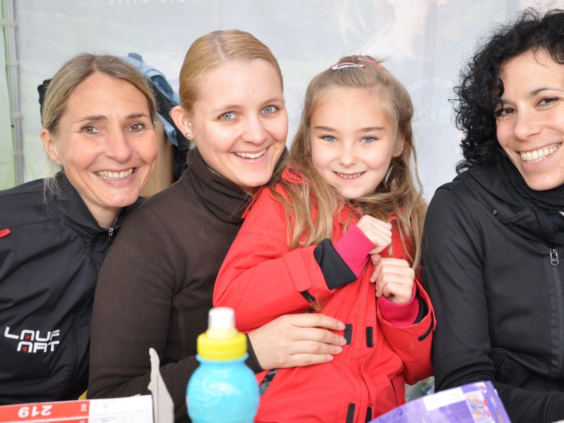 (v.l.) Sonja, Sandra, Sarah und Miriam.