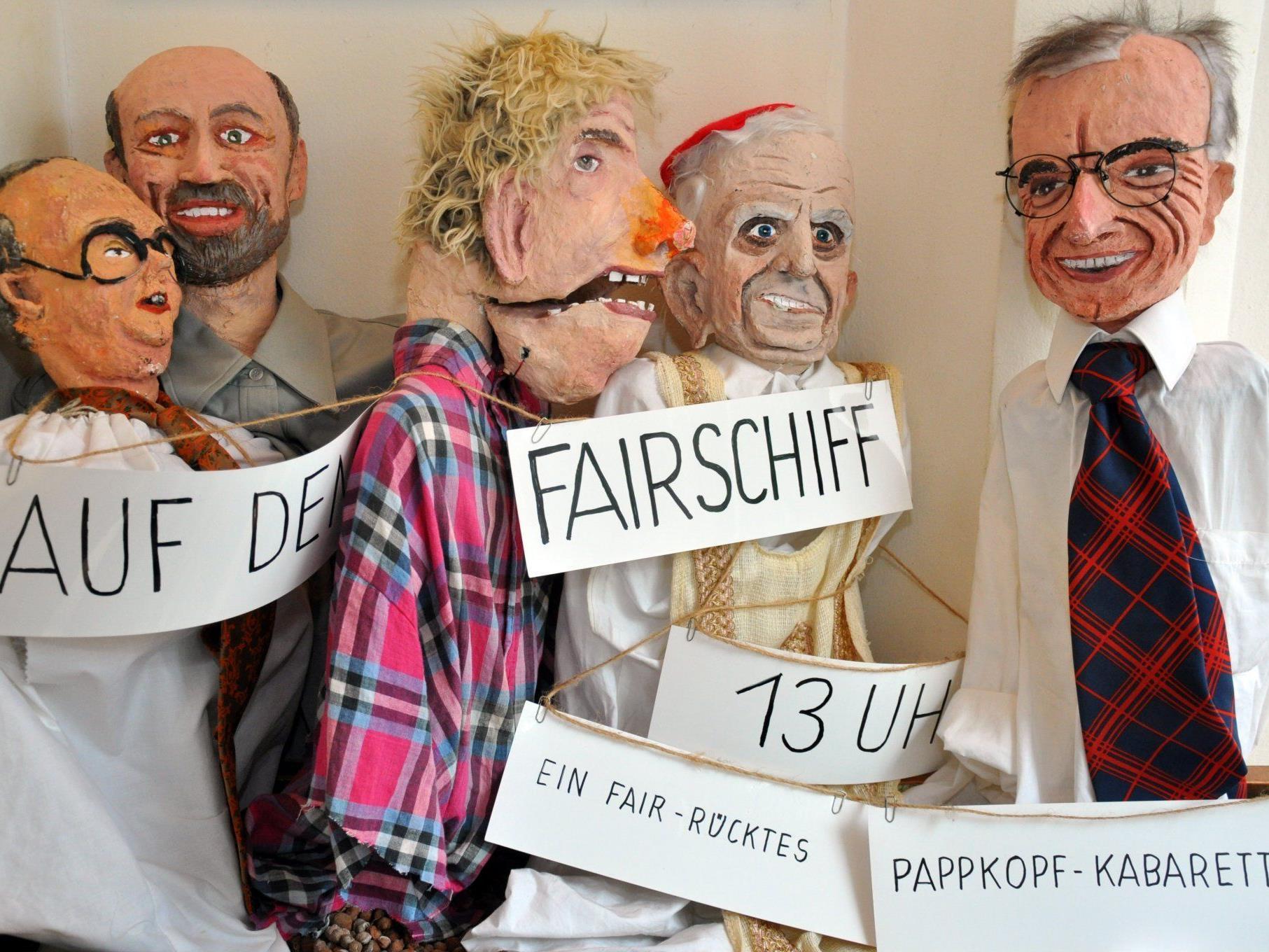 Großen Anklang fand das fair-rückte Pappkopf-Kabarett.