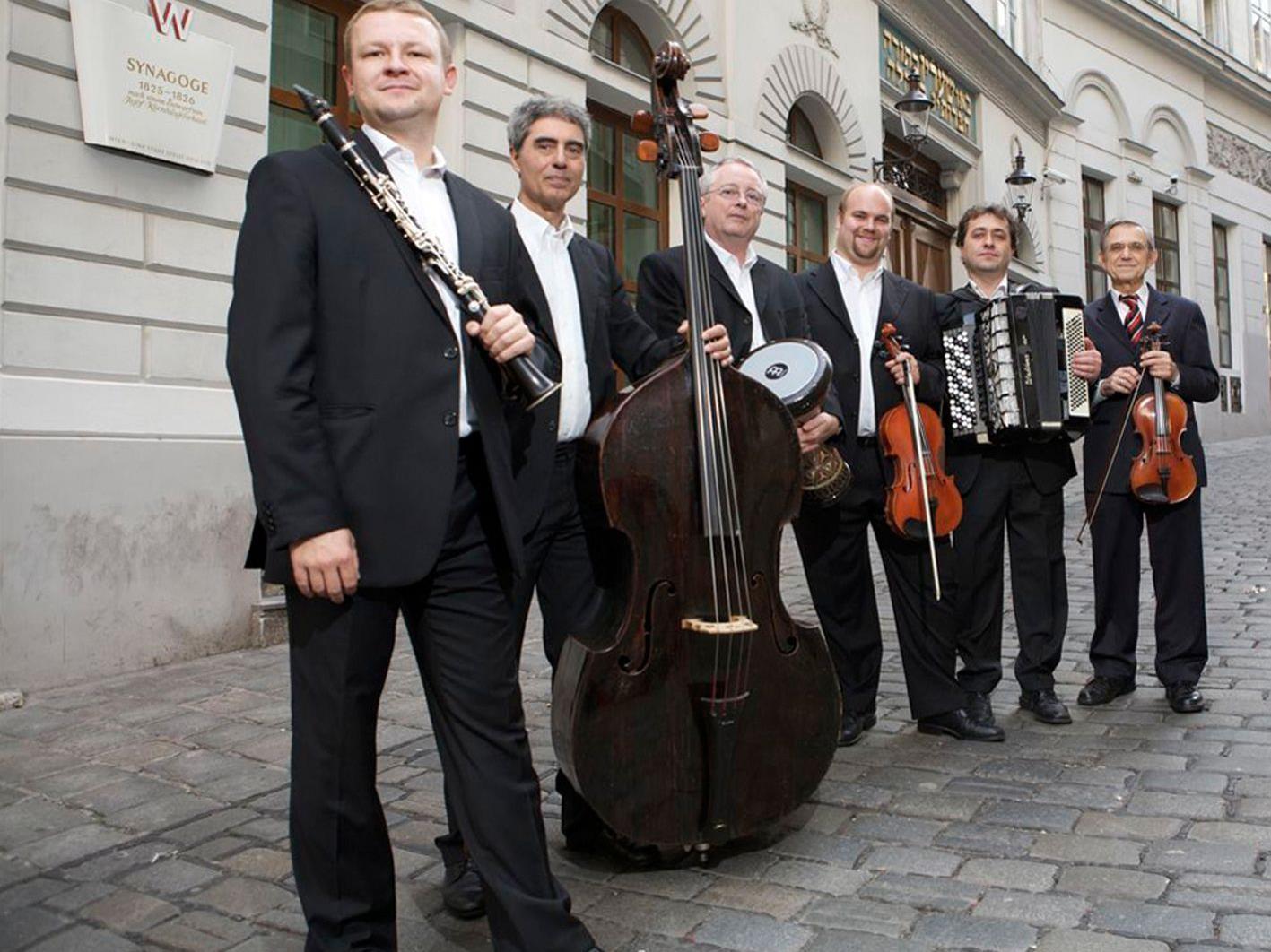 """Das """"Ensemble Klesmer Wien"""" gastiert am Freitag, 4. Mai, um 20.30 Uhr im Salomon-Sulzer-Saal."""