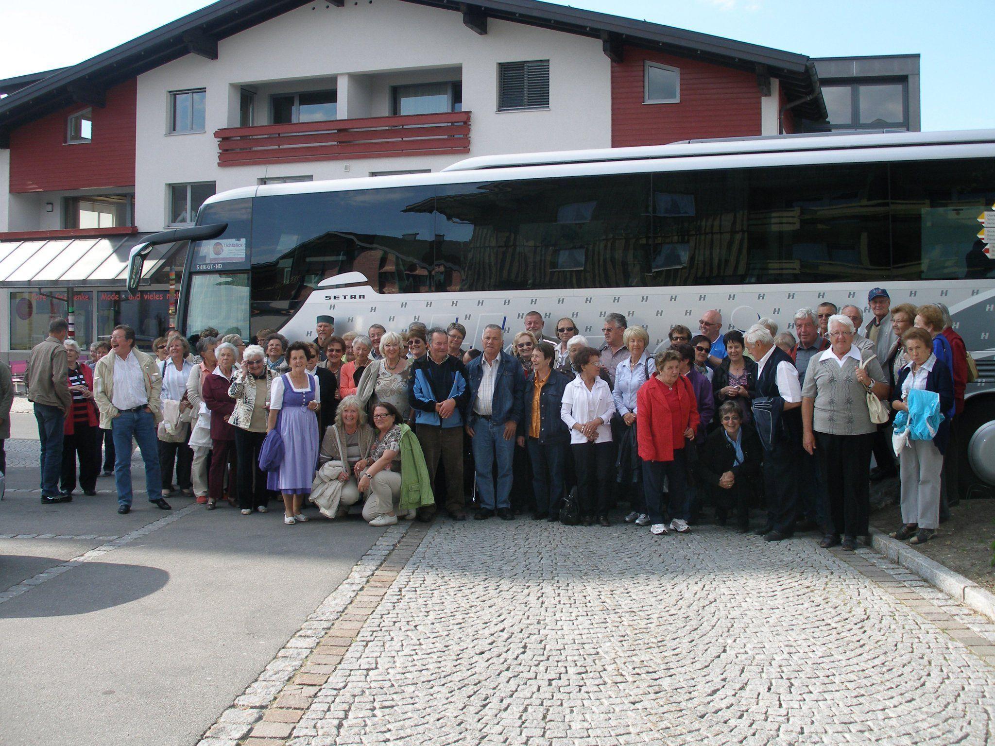 Teilnehmer der Fahrt in's Blaue 2012.in Sulzberg.