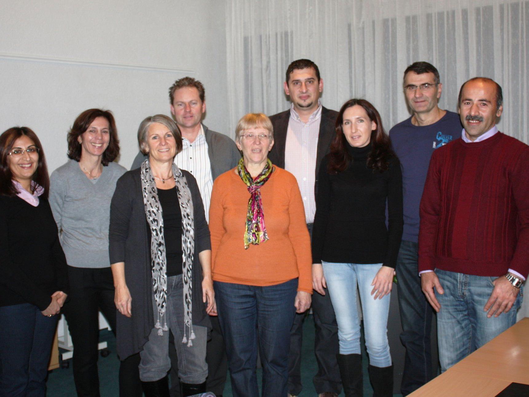Gemeinderätin Elisabeth Fischer (3. v. li) mit ihrem Kernteam.