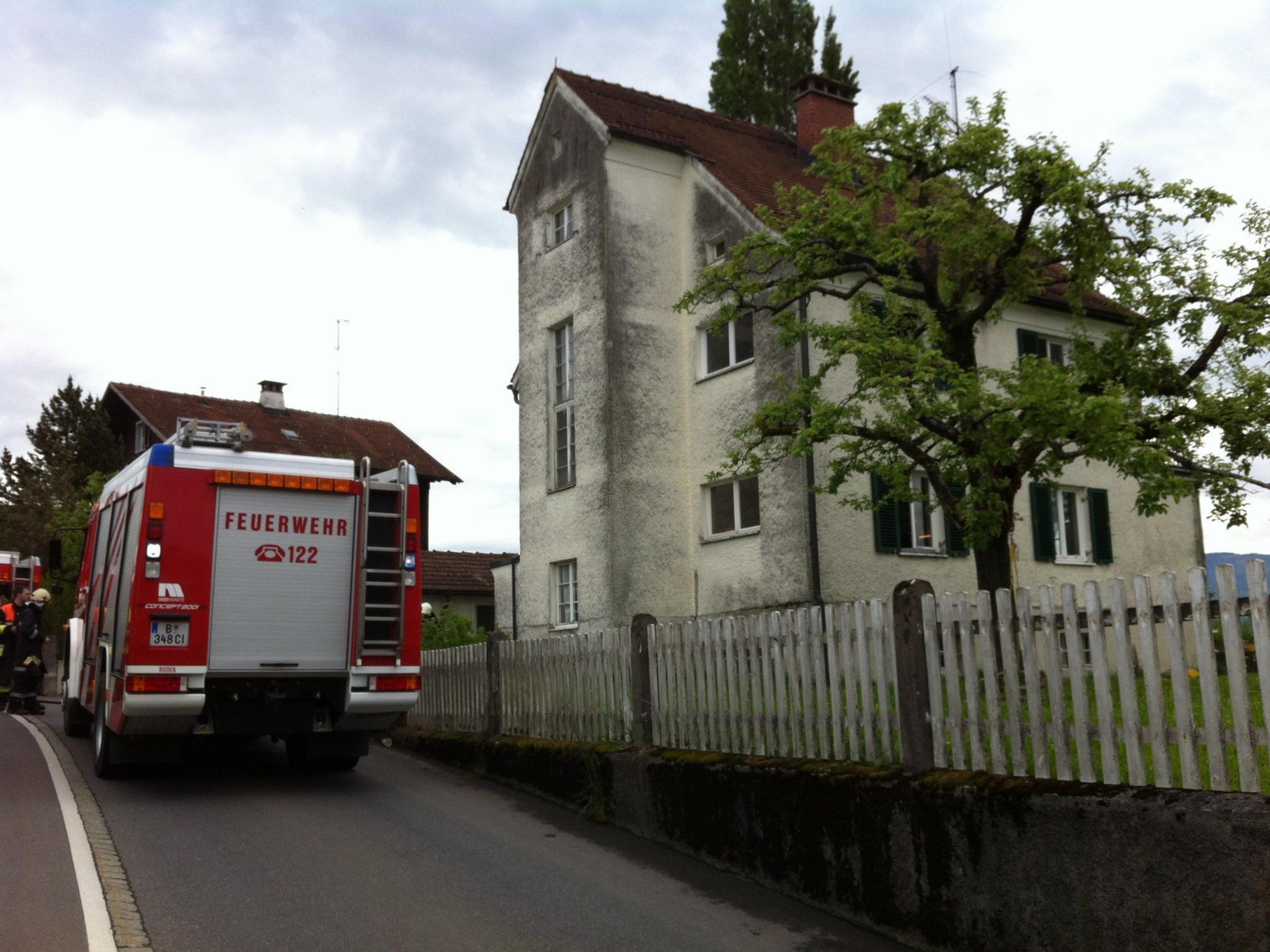 Das rasche Eingreifen der Feuerwehr verhinderte Schlimmeres.