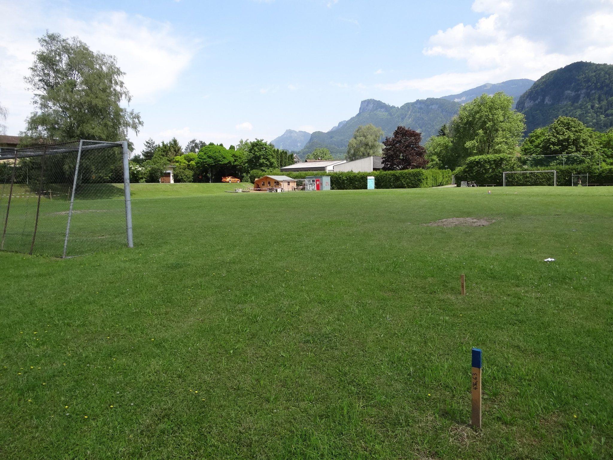 Der Sportplatz Götzner Moos soll bald dem neuen Feuerwehrhaus Platz machen.