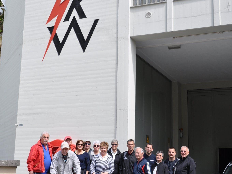 Seniorenbund Ludesch als Gäste der Illwerke VKW im Lutzkraftwerk
