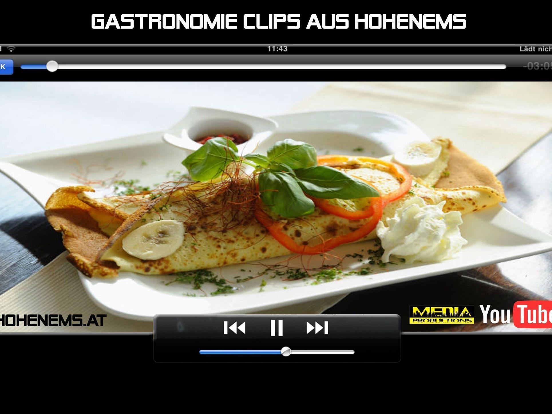 Dreharbeiten zur Hohenemser Gatronomie haben begonnen!