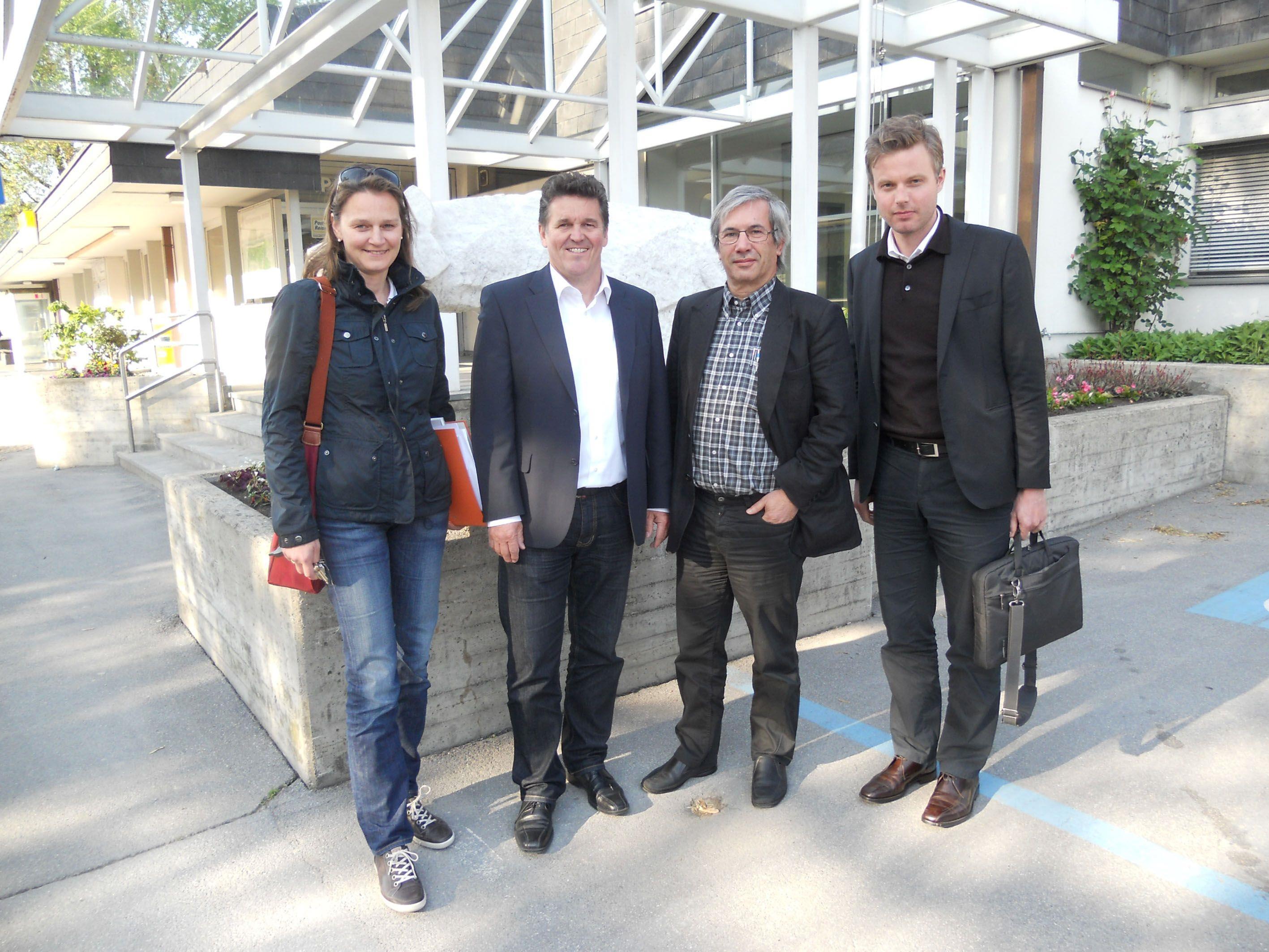Bgm. Christian Natter (2. v. li) mit den Mitgliedern des Gestaltungsbeirates.