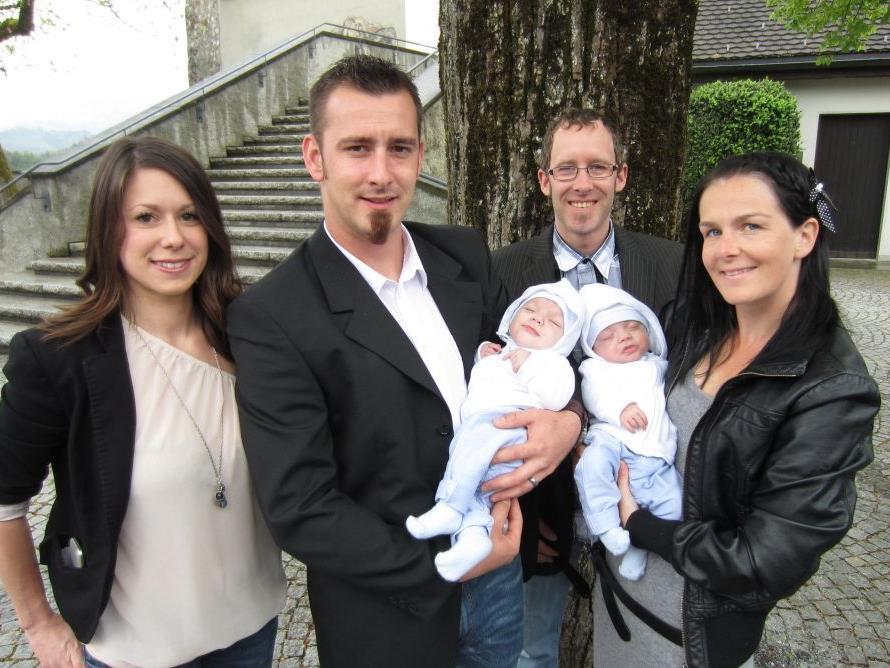 Noah und Niclas Dobler wurden getauft.