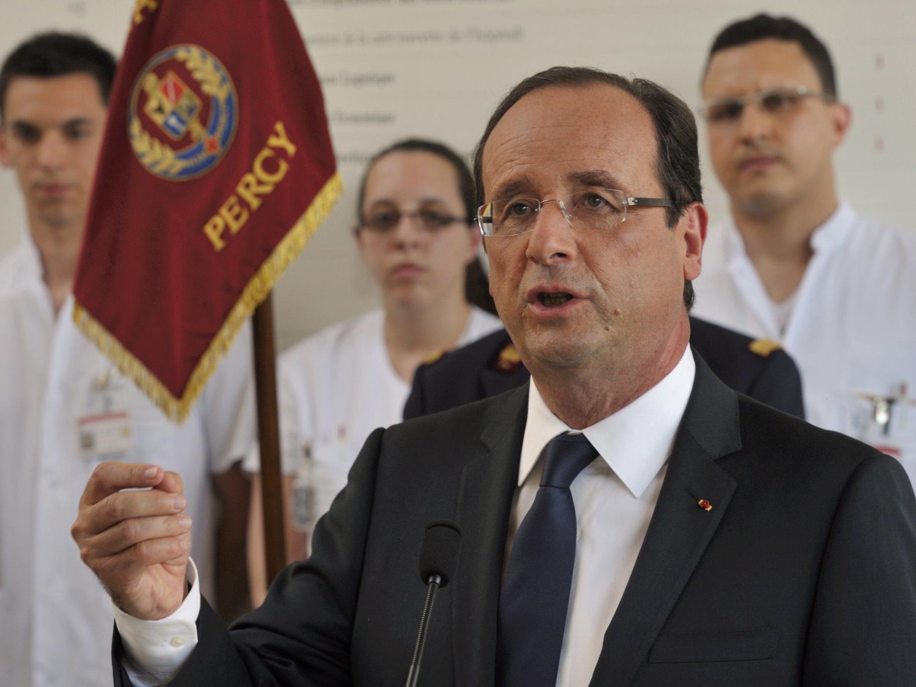 Frankreichs neuer Präsident Francois Hollande schließt ein militärisches Eingreifen in Syrien nicht mehr aus,