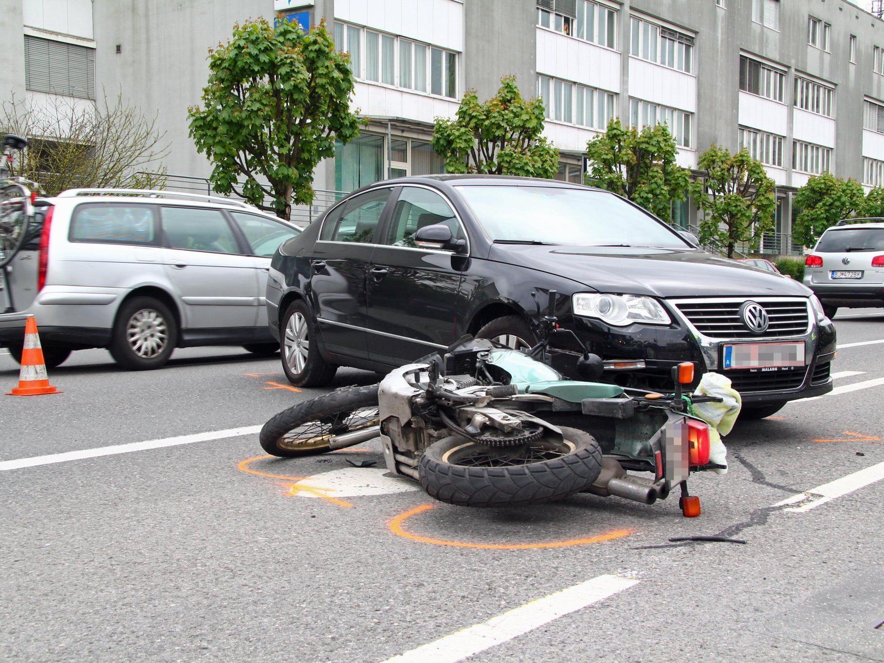 Motorradfahrer wurde bei Unfall in Bregenz verletzt