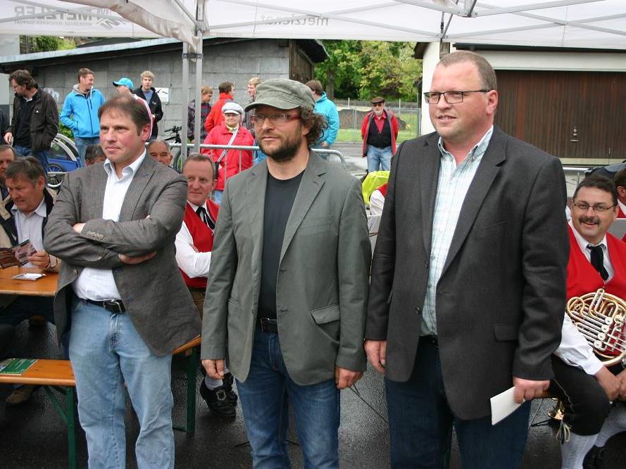 Die Betreibergemeinschaft: Markus Summer, Wilfried Ammann und Manfred Bischof