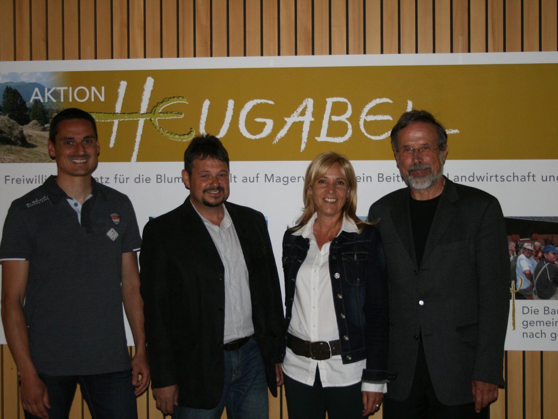 Chef Raiba Gager Michael mit BM Walter Rauch, Birgit Werle (Regio Walgau) und Günter Stadler