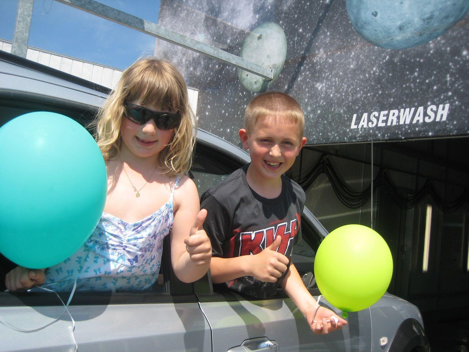 Nina und Lukas waren beim Eröffnungswochenende gerne dabei.