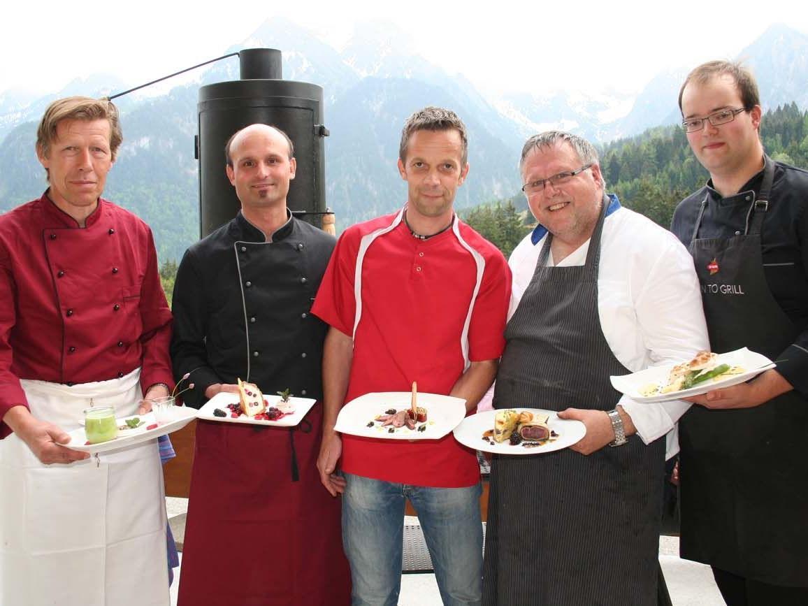 Elmar Schedler, Lothar Schedler, Martin Wieland, Uli Maurer und Antonio Herzog.
