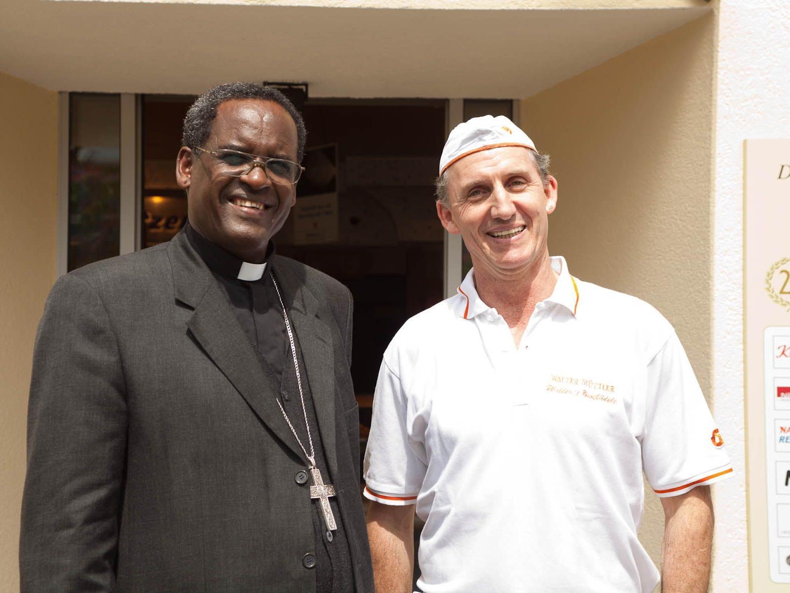 Bischof Abraham und Walter Stüttler