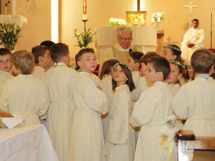 32 Erstkommunikanten feierten gestern ihren großen Tag.
