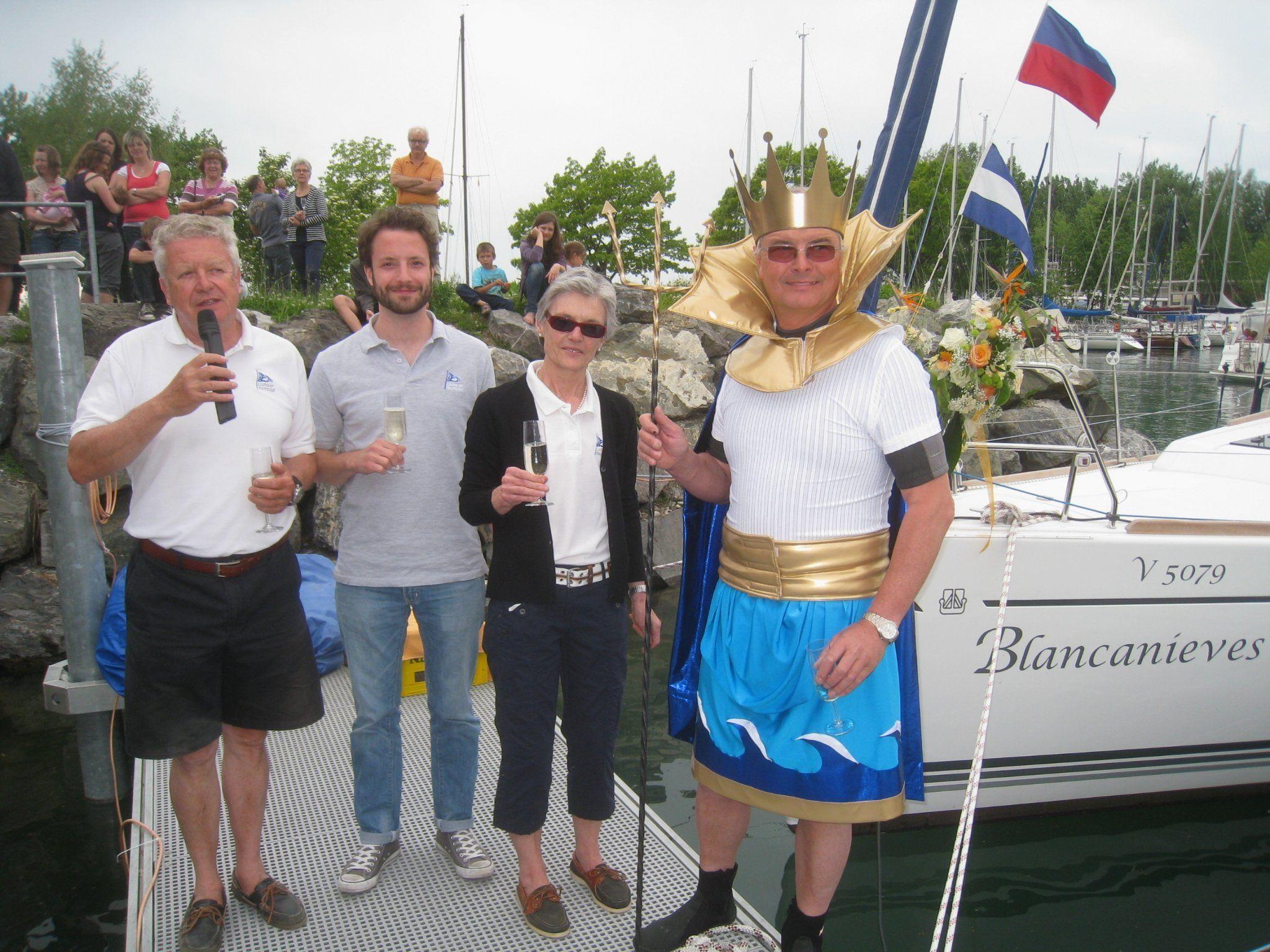 """In diesem Jahr war auch LYC-Präsident Benno Wagner unter den """"Bootstäuflingen""""."""