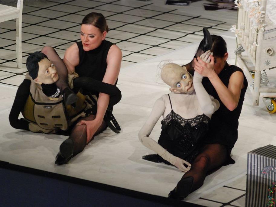 """Mit dem Stück """"Marleni"""" setzte das Theater Magdeburg den beeindruckenden Festival-Schlusspunkt."""