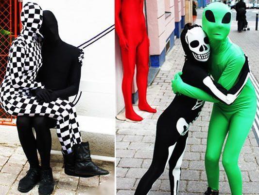 Ob für Groß oder Klein, in Schwarz-Weiß oder in Farbe - Morphsuits sind auch in Wien auf dem Vormarsch