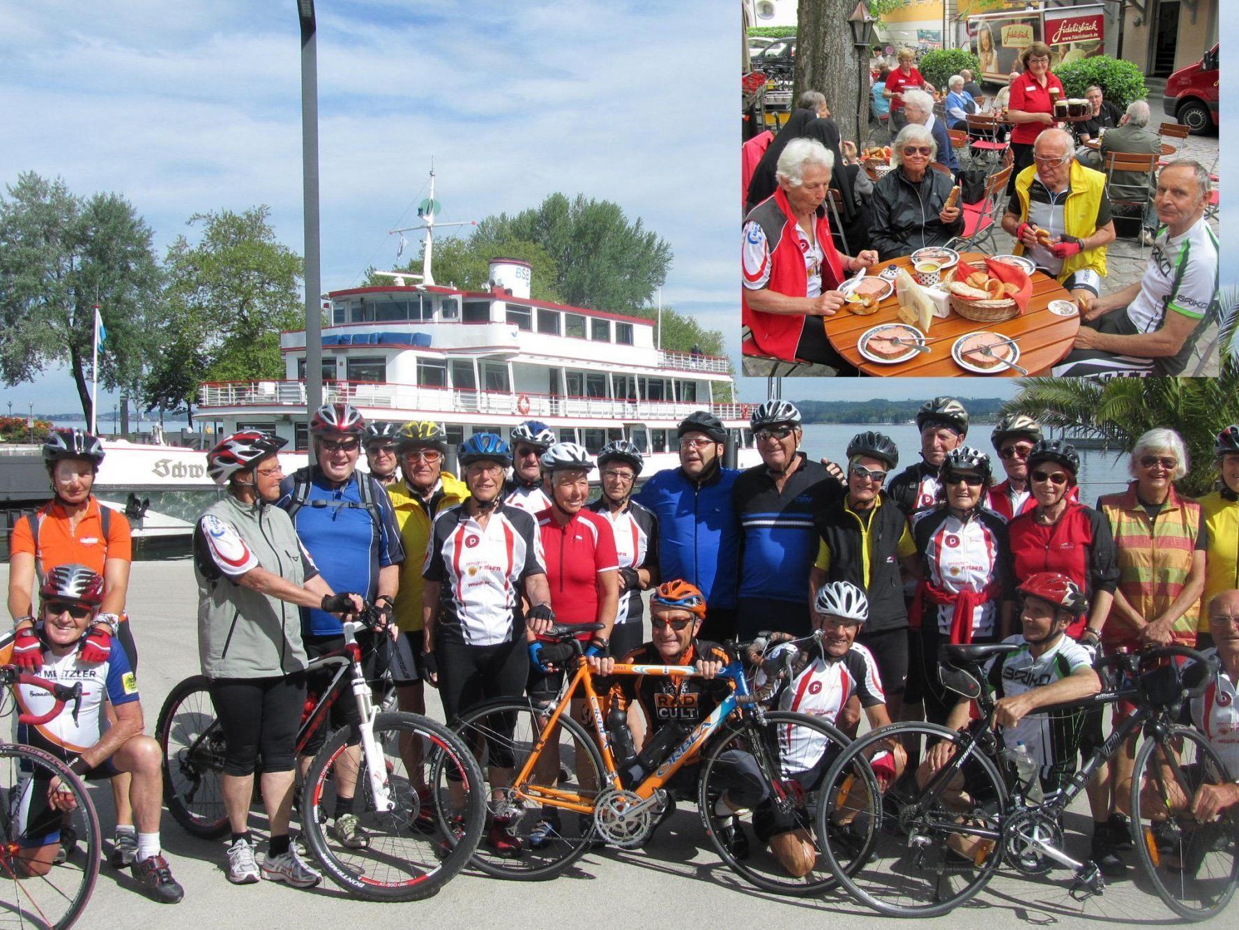 """Team per pedales: Beim """"Fidelisbäck"""" in Wangen"""
