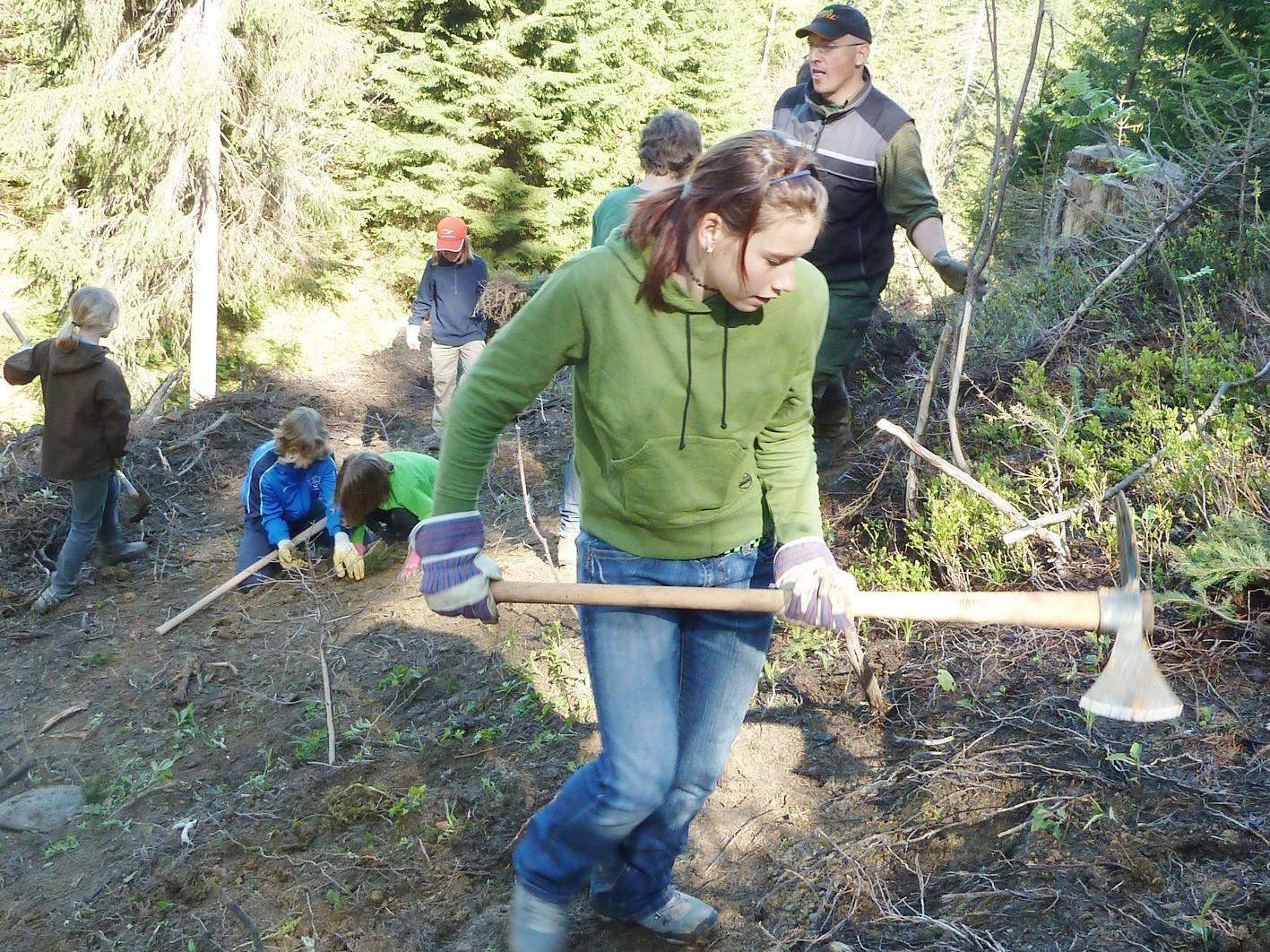 Die AV-Jugend führt seit Jahren Aufräumungs- und Aufforstungaktionen in Emser Bergwäldern durch.