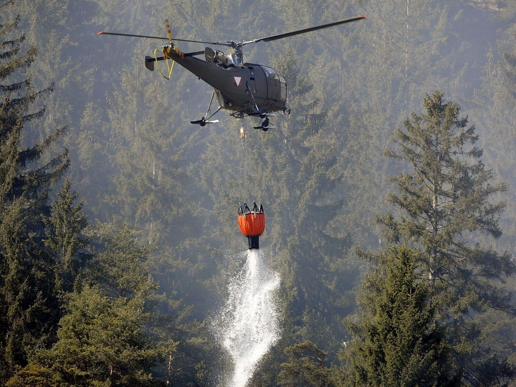 Mehr als 600 Hektar Wald in Südmähren in Flammen.