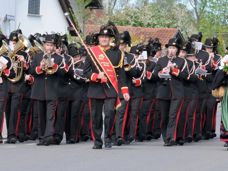 Die Bürgermusik Hard beging den Tag der Blasmusik am 1. Mai.
