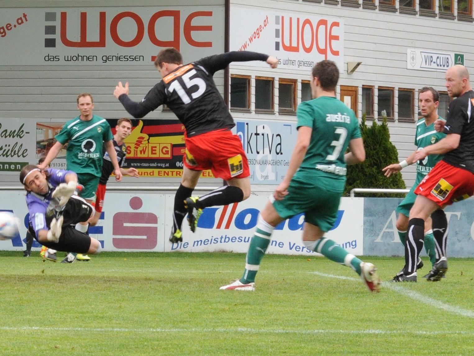 Mit seinem Fersler traf Clemens Fritsch unhaltbar zum 1:0 für die Viktortia Bregenz.