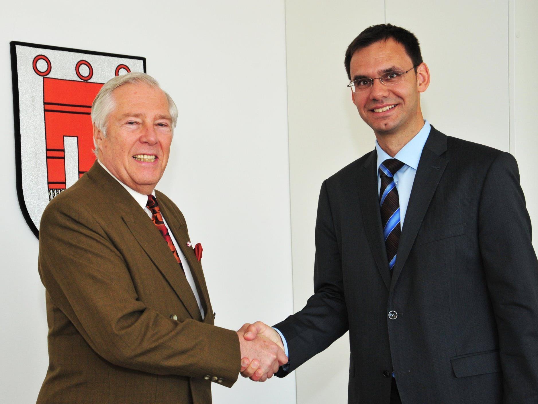 LH Markus Wallner tauschte sich im Landhaus mit Gustav Chlestil, dem Präsidenten des Auslandsösterreicher-Weltbundes, aus.