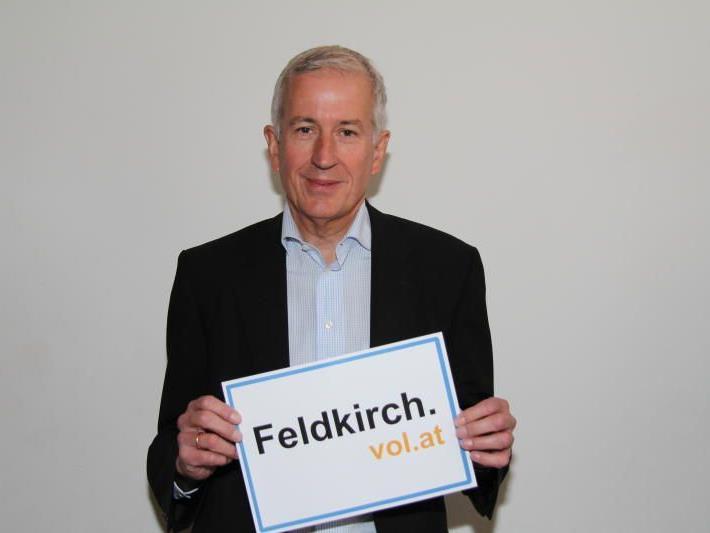 Bürgermeister Wilfried Berchtold im VOL.AT-Gespräch über Großprojekte in Feldkirch.