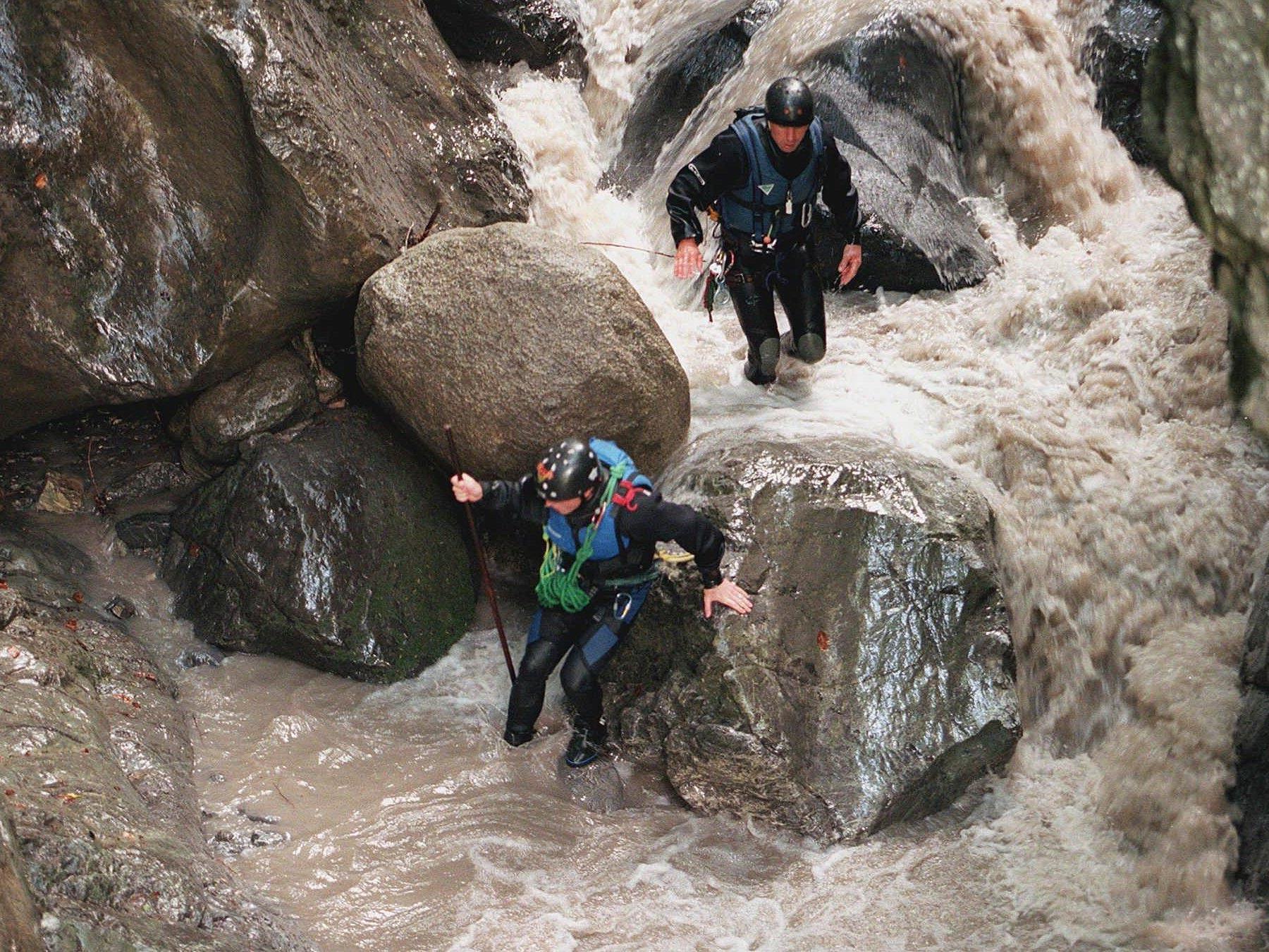 Tödlicher Unfall beim Canyoning im Tiroler Ötztal.