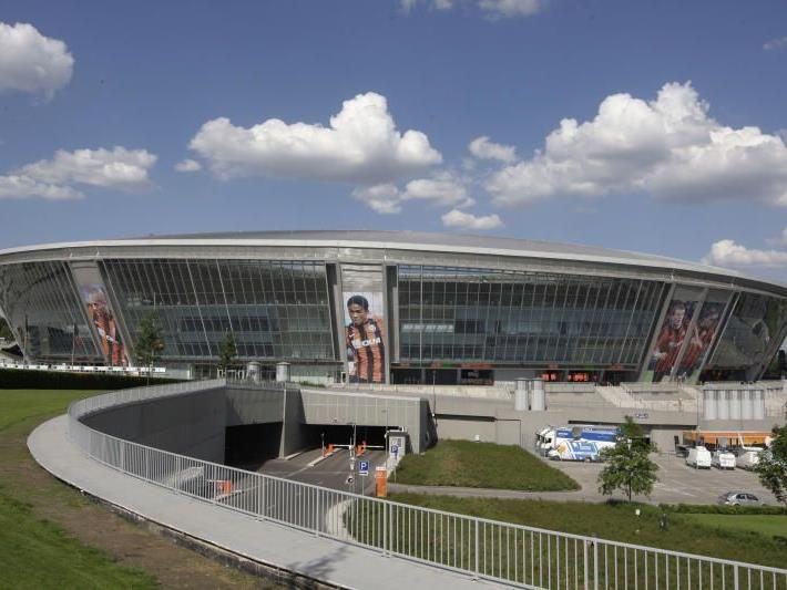 Das Donbass-Stadion in Donezk