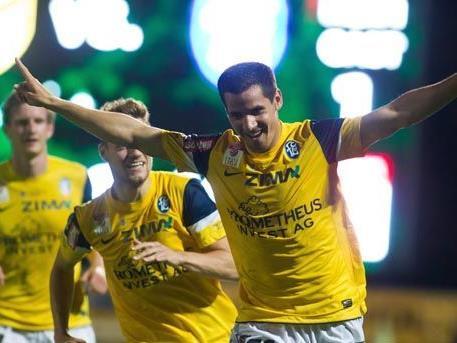 FC Lustenau jubelt über Sieg.