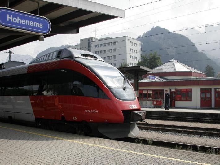 Haltestelle Lauterach und Bahnhof Hohenems werden umgebaut
