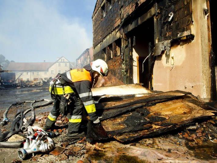 Aufklärung der Brandursache gestaltet sich schwierig.