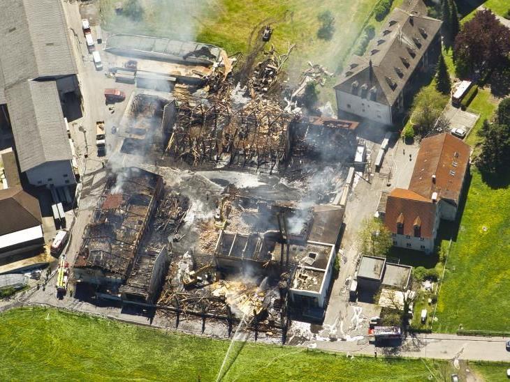 Wirtschaftsgebäude des Klosters Mehrerau wurde bei einem Brand zerstört.