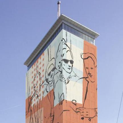 Osteuropäische Tradition ist das Thema bei der Verhüllung des Ringturms 2012
