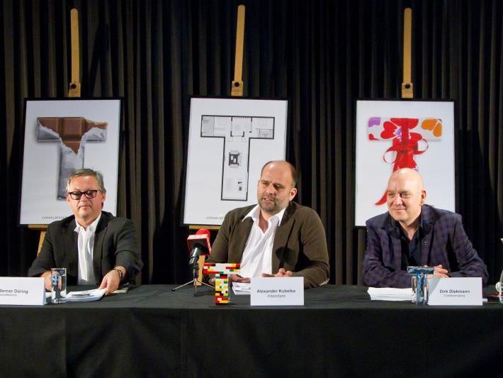 """Zur für 2013 geplanten Eröffnung des benachbarten """"vorarlberg museum"""" steuert das Landestheater das Handke-Stück """"Die Stunde, da wir nichts voneinander wussten"""" bei."""