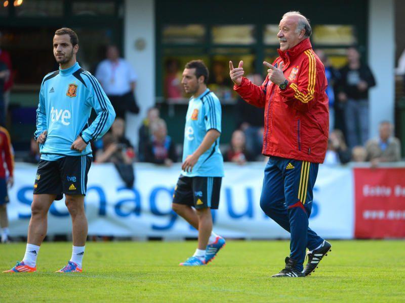 Teamchef Vicente Del Bosque verzichtet auf das Training am Sonntagabend