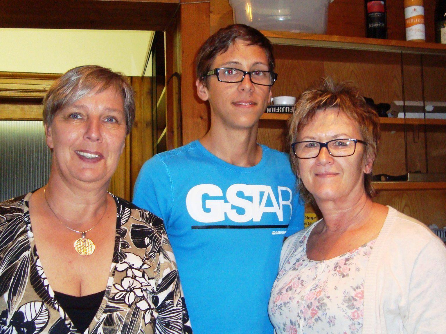Anita Sailer vom Lebenshaus in Lingenau, Kevin Wohlgenannt und Anni Kühne