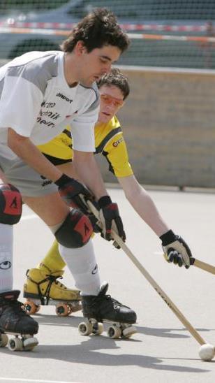 Michael Laritz hat die Rollhockeyschuhe noch nicht ganz an den Nagel gehängt.