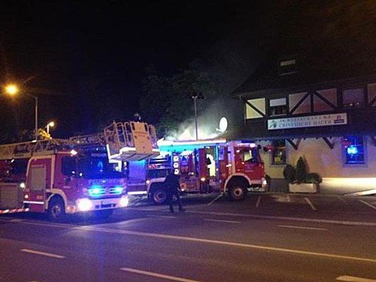 Ein Leserreporter hat den Feuerwehreinsatz in Hohenems fotografiert.