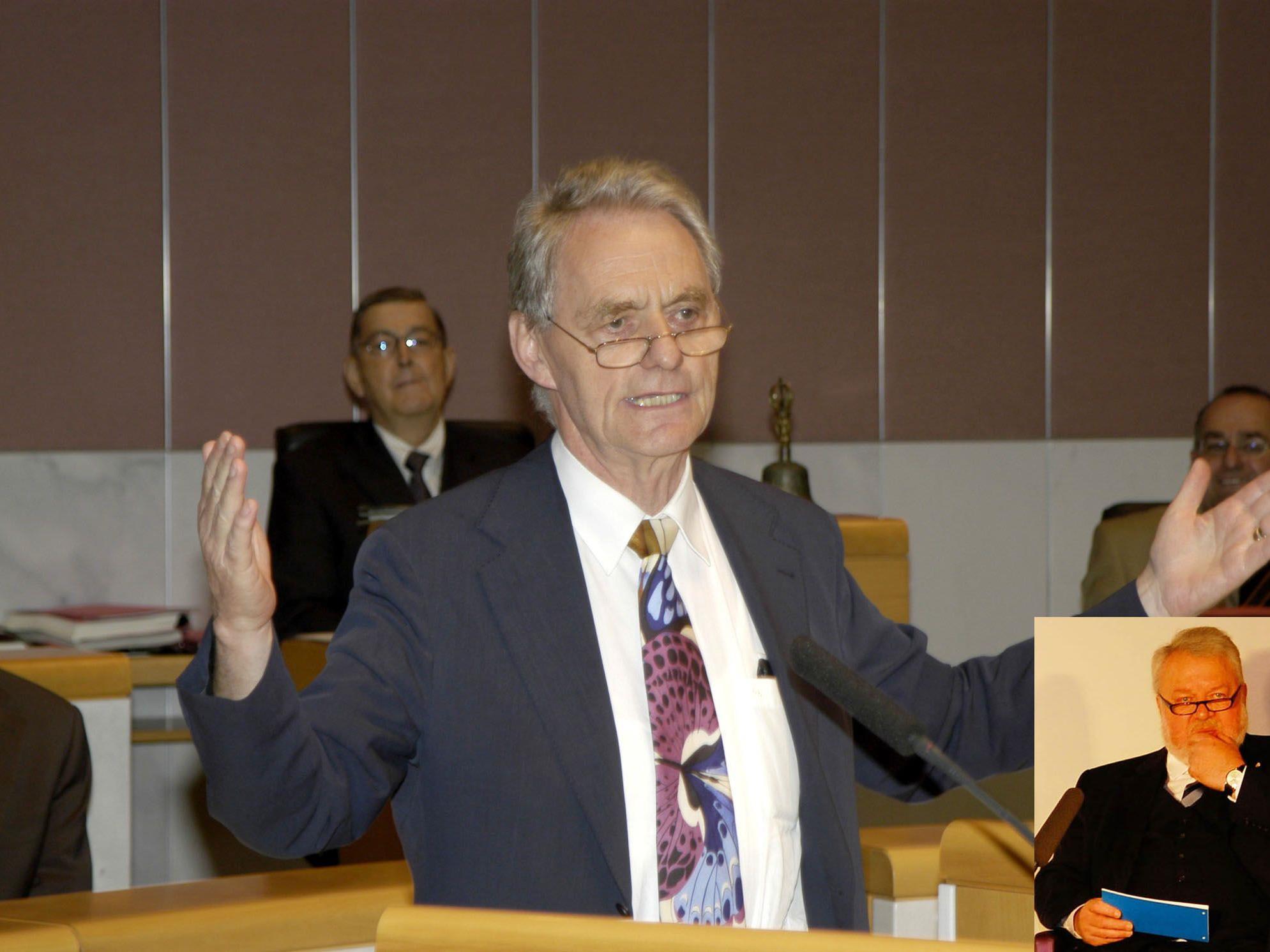 Elmar Oberhauser (kl. Bild) hat Günther Keckeis als Zeitzeuge zu Gast.
