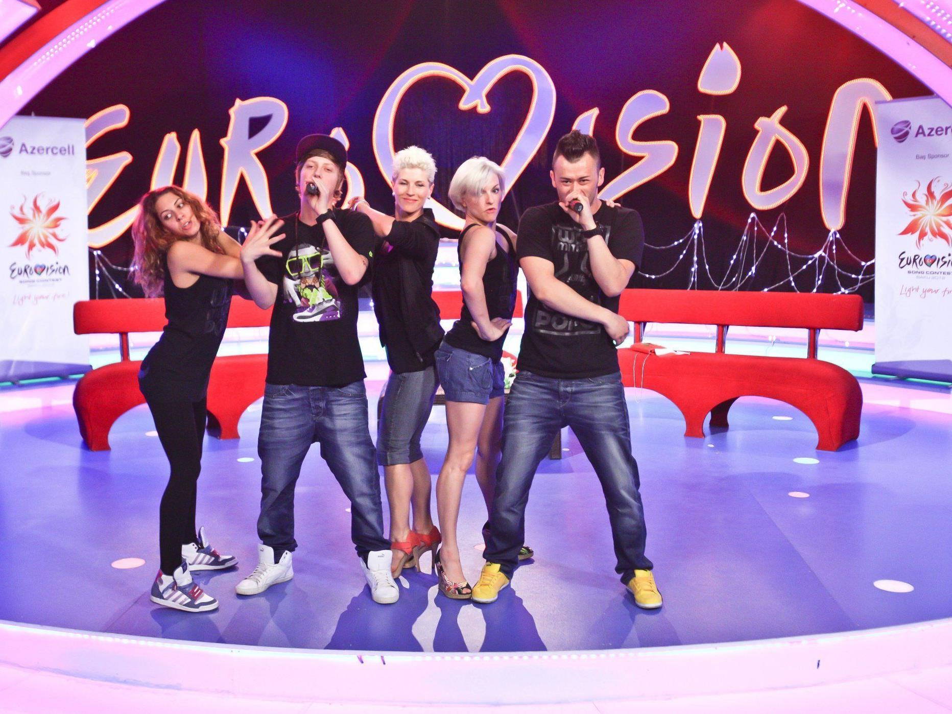 Die Trackshittaz wollen in der ersten Runde des Song Contest 2012 in Baku gute Figur machen.