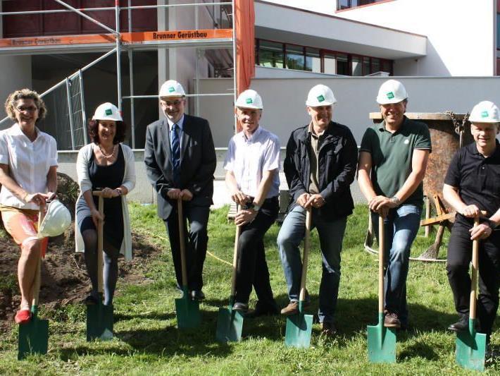 Umfangreiche Sanierungsarbeiten mit Schwerpunkt Nachhaltigkeit - Spatenstich bei der LBS Feldkirch erfolgt.