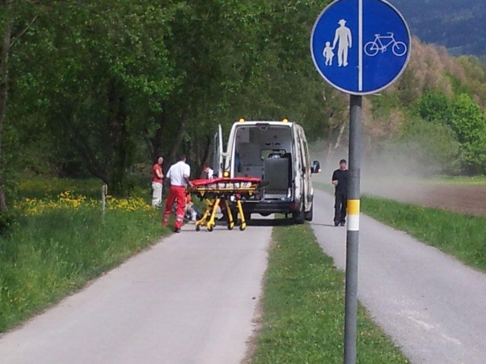 Rettungseinsatz am Bregenzer Seeufer am Dienstag.