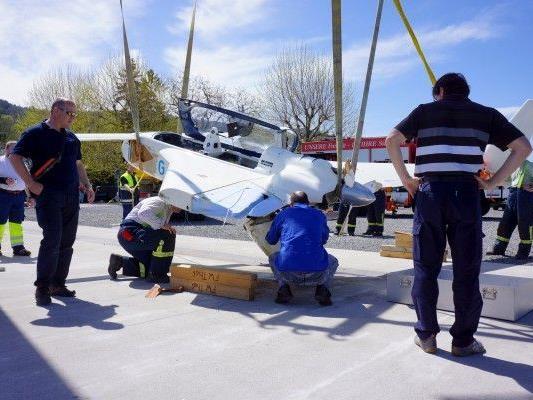 Altenrhein: Kleinflugzeug auf Bodensee notgelandet, keine Verletzten.